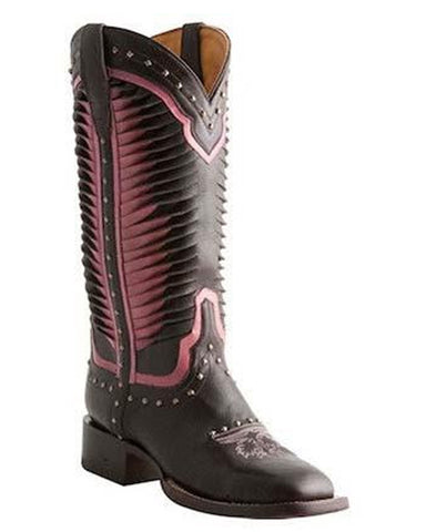Womens Twisted Leather Boots