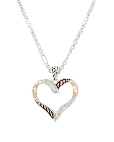 436188286328b Montana Silversmiths Womens Facets Of Love Heart Necklace