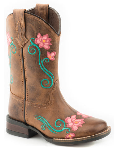 Girl's Helen Floral Western Boots