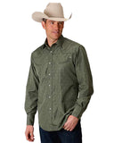 Men's Horseshoes Long Sleeve Western Shirt
