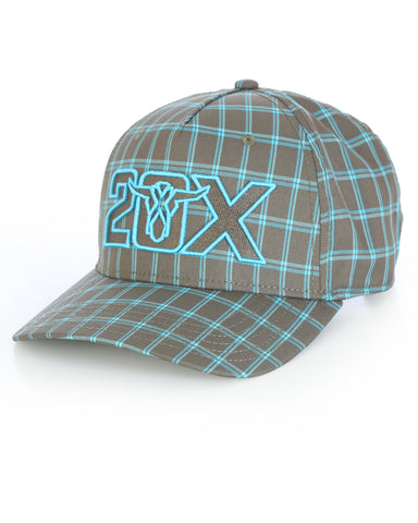 Wrangler 20X Plaid Logo Ball Cap