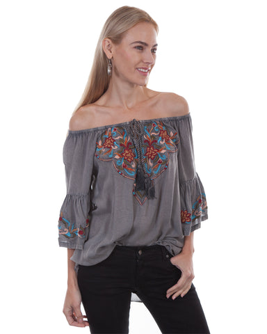 Women's Off The Shoulder Long Sleeve Blouse