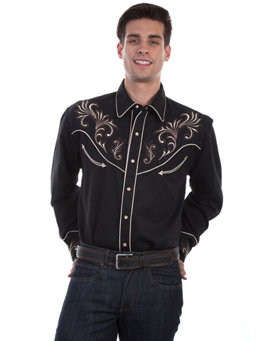 Men's Embroidered Western Shirt