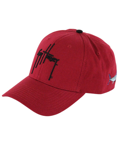 Guy Harveys Team Colors Ball Cap - Garnet