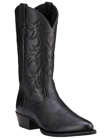 Men's Heritage R Toe Boots - Black Deertan