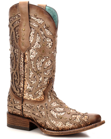 Womens Orix Glitter Inlay Boots