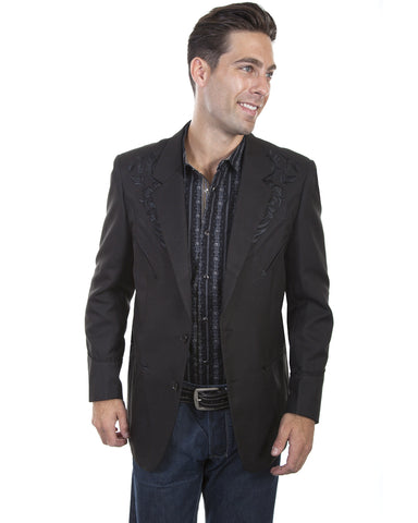 Men's Floral Embroidered Blazer