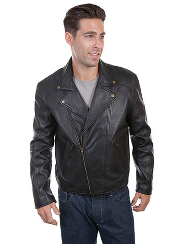 Men's Concealed Carry Lambskin Motorcycle Jacket