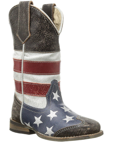 Kid's American Flag Boots