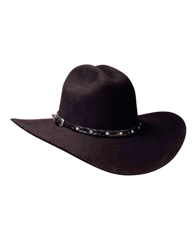 Bullhide Pistol Pete 6X Wool Hat - Black