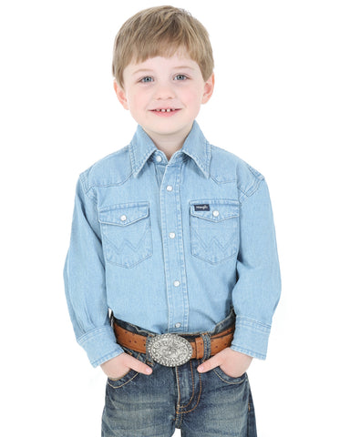 Boys Cowboy Cut Western Snap Shirt