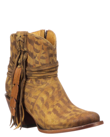 Womens Robyn Feather Boots - Tan