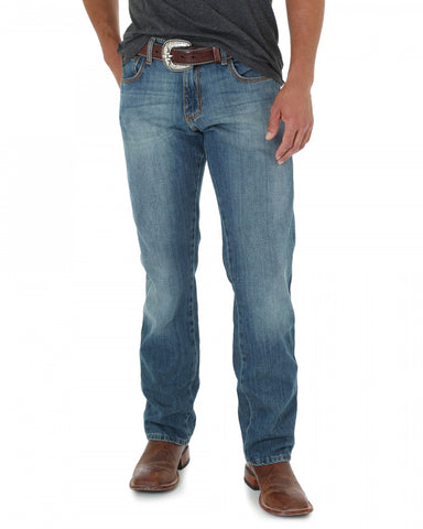 Mens Retro Slim Fit Straight Leg Jeans