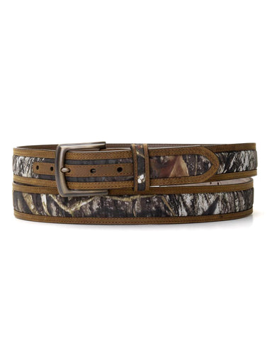 Mens Mossy Oak Leather Belt