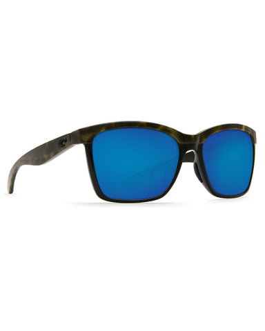 Anaa Blue Mirror Sunglasses - Black