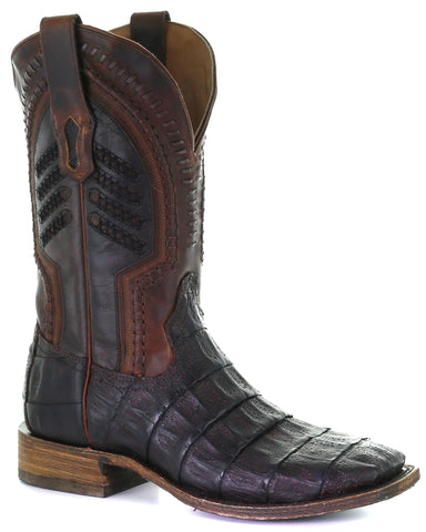 Men's Caiman Embroidery Western Boots
