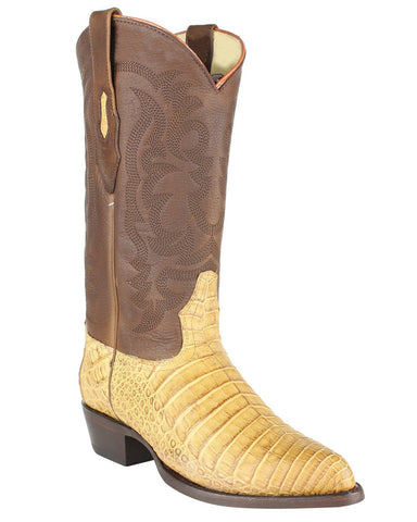 Men's Caiman Belly Grasso J-Toe Boots