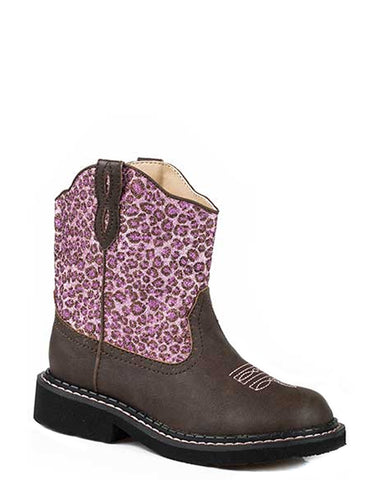Kid's Glitter Cheetah Boots