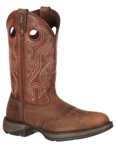 Mens Rebel Saddle Pull-On Work Boots