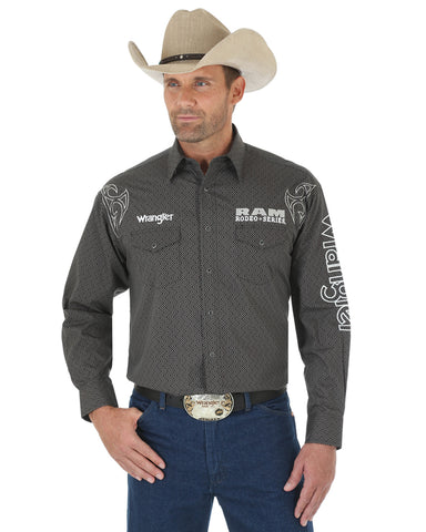 Men's Ram Rodeo Series Wrangler Logo Long Sleeve Shirt
