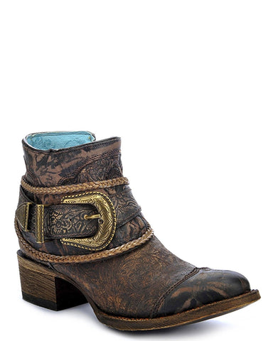 Women's Floral Embossed Short Boots