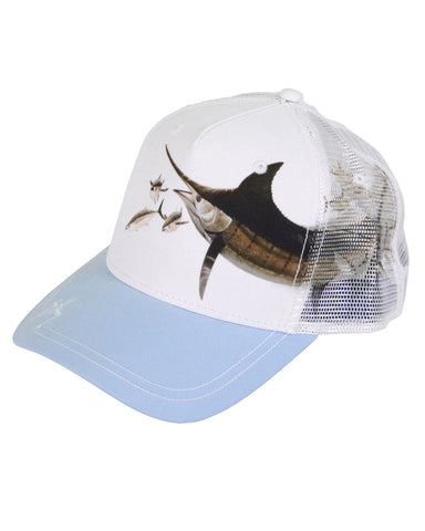 Guy Harvey's Frenz Trucker Ball Cap - White