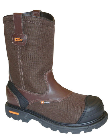 Mens GenFlex Waterproof Safety-Toe Pull-On Boots