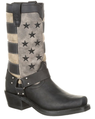 Women's Faded Flag Harness Boots