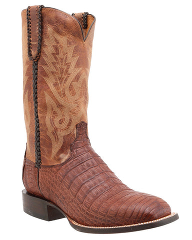 Mens Dalton Caiman Crocodile Belly Boots