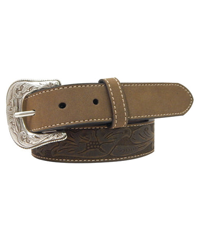 Kid's Floral Leather Belt