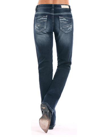 Women's Multi Thread Boyfriend Fit Boot Cut Jeans