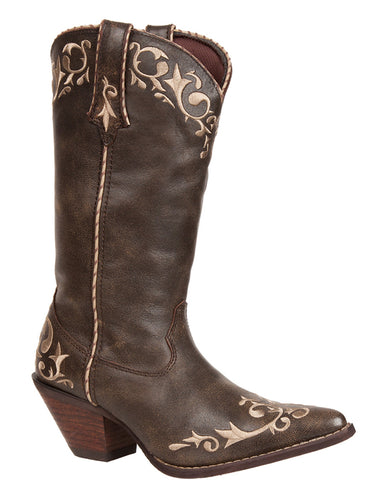 Womens Crush Chocolate Scroll Boots