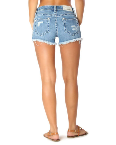 Womens Floral Embroidered Shorts