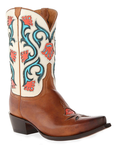 Womens Belle Flower Boots - Tan