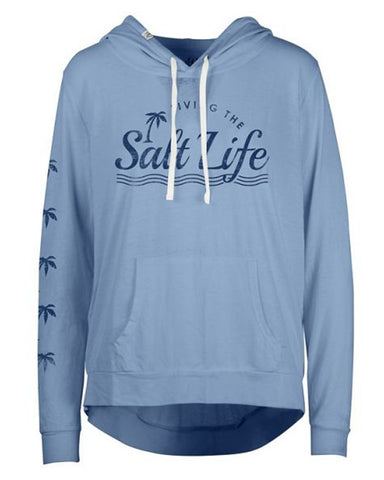 Women's Sunburnt Lightweight Pullover Hoodie - Blue