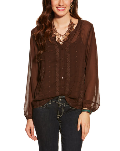 Women's Lilly Chocolate Top