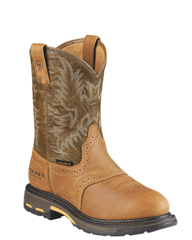 Mens Workhog H20 Pull-On Boots - Aged Bark