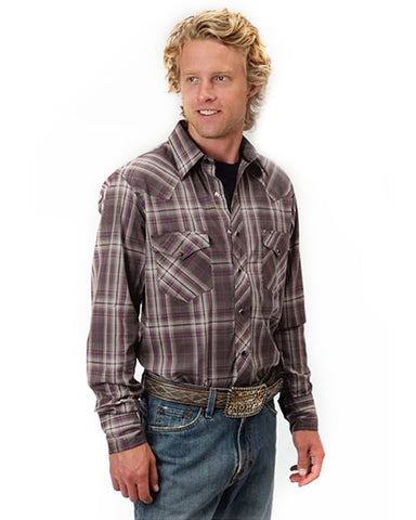 Men's Plaid Performance Western Shirt - Black