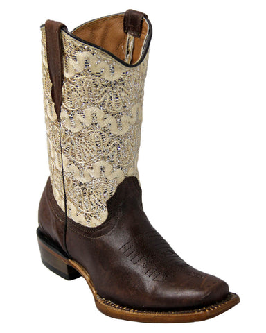 Kid's Dragon Sparkle Boots -Brown