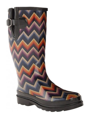 Womens Chandra Chevron Rain Boots