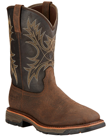 Mens Workhog Wide Square-Toe Boots