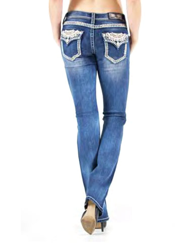 Women's Embellished Junior Boot Cut Jeans