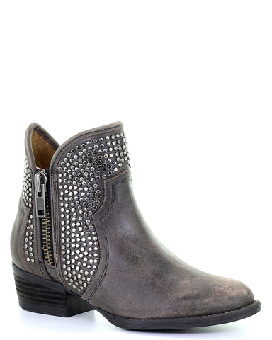Women's Studded Fashion Ankle Boots - Black