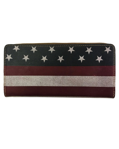 American Flag Zipper Wallet