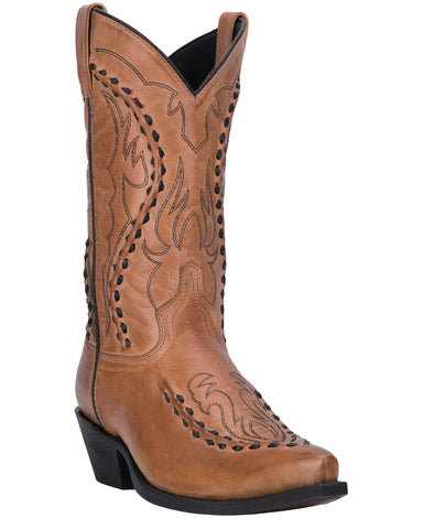 Mens Laramie Bucklace Boots - Tan
