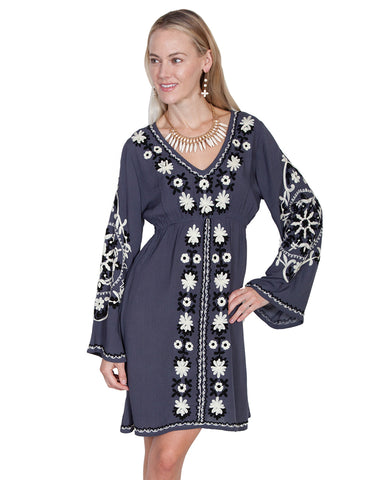 Women's Floral Embroidered Dress