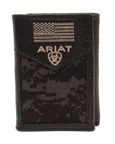 Tri-Fold Rodeo Flag Patch Wallet