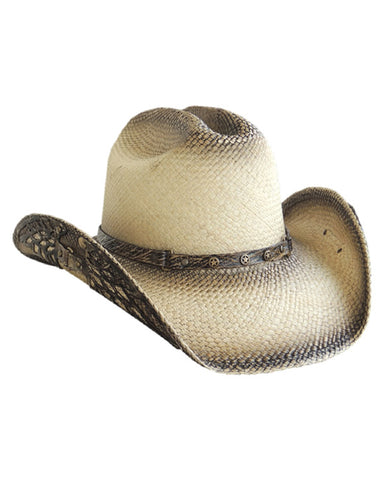 Leather Wings Straw Hat