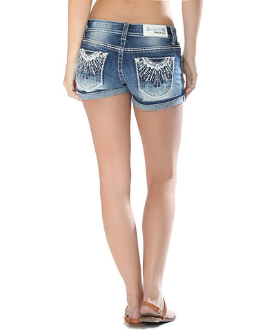 Womens Sun-Burst Easy Fit Shorts