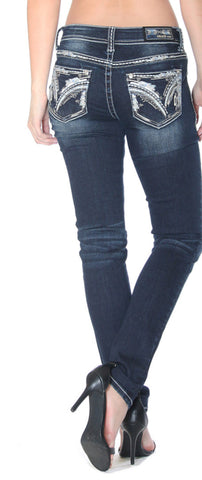 Women's Easy Fit Embroidered Skinny Jeans